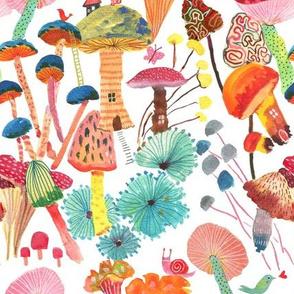 Magical Mushrooms_Fairy land Multicolor