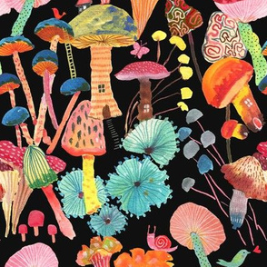 Magic and joy - Mushrooms_Black
