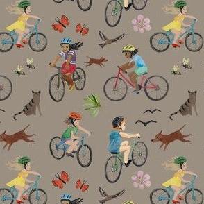 Kids biking choco
