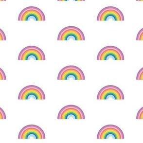 rainbow on white - small