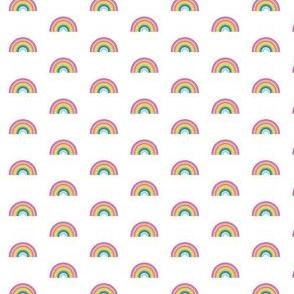 rainbow on white - tiny