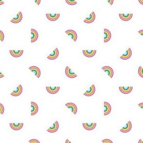 tossed rainbow on white - tiny