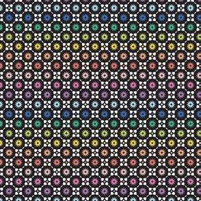 rainbow burst mosaic - tiny