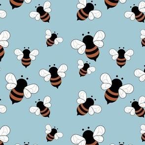 Busy buzzing bumble bees Scandinavian style minimalist boho bee design for kids nursery rust baby blue