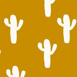 Medium Mustard Desert Cactus