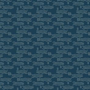 Heat Waves - Dark Blue