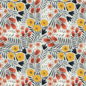 Shirley floral (navy and pink) (small)