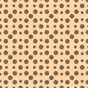 Retro Cut out flowers in a grid small