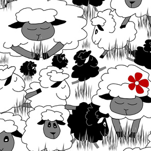 Just Sheep (White & Black  X Large)