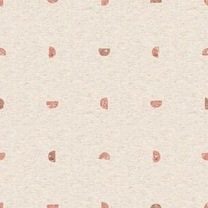 Small // Block Print Half Moons in Ballet Pink Modern Boho Geometric
