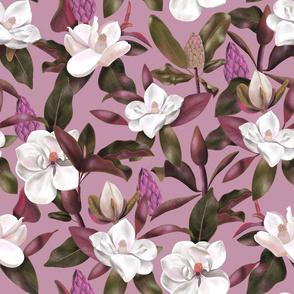 Magnolias pattern lilac