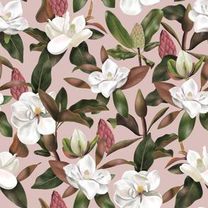 Magnolias pattern Pink