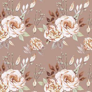Lisianthus beige and brown