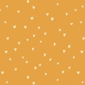 Delicates heart pattern on a yellow background
