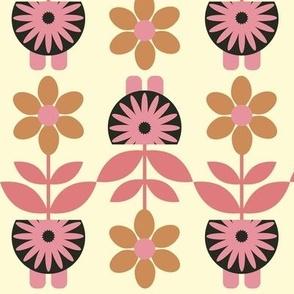 Marigold Calendulas - all in a row