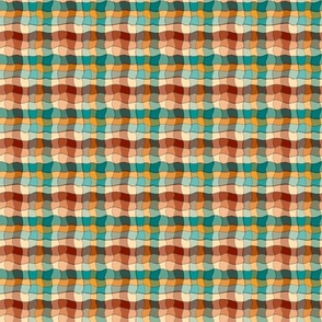Wiggly lines gingham, checks or plaids, small,