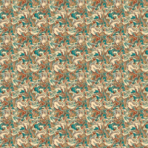 Marbled Folk Art Butterflies, medium