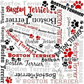 BOSTON TERRIER CRAZY QUILT