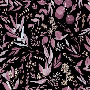 Eucalyptus Purple and Black