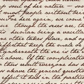 Orlando Text ~ Sepia on Linen Parchment
