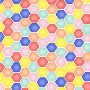 Summery Hexagons - MEDIUM