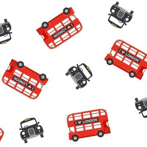 London buses and taxis