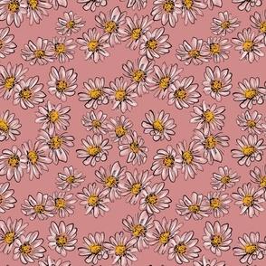 Daisies Dark Pink
