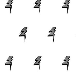 Lightning Bolts Black and White