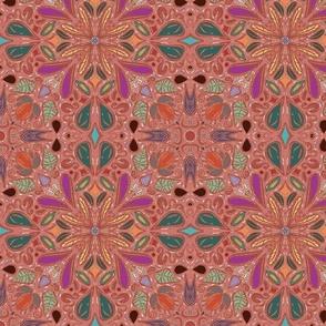 Tribal Mandala Geometric Boho Retro Symmetry