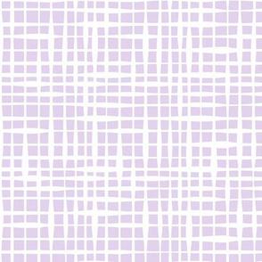 Organic Check Lilac Purple by Jac Slade