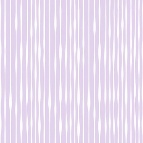 Organic Stripe Lilac Purple by Jac Slade
