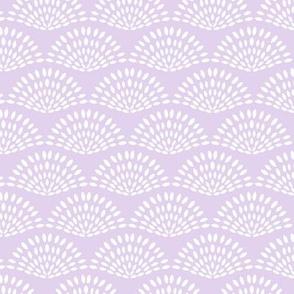 Petal Scallop lilac purple solid by Jac Slade