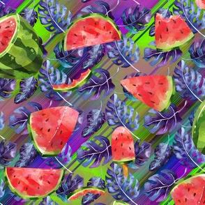 small watermelon monstera purple FLWRHT