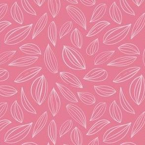 Leaf outline - Pink