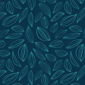 Leaf Outline - Teal & Navy