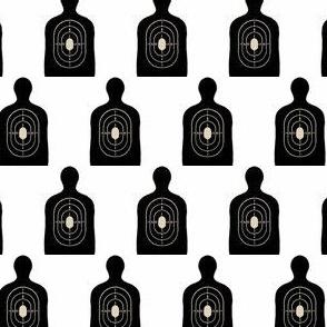 Black Bullseye on White, Hunting Target Circles