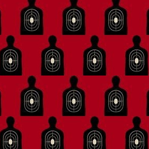 Black Bullseye on Red, Hunting Target Circles