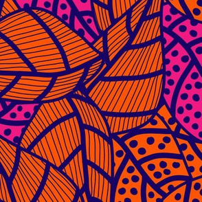 20210427v2 - Leafs in blue, orange and pink
