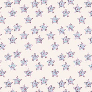 Leopard print stars american flag national holiday theme baby blue red cream SMALL