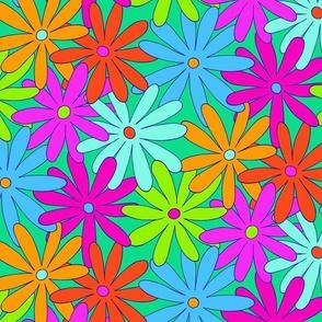 Mod Daisy Floral - Super Bright - MEDIUM