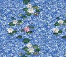 Rain on Lotus Sky blue