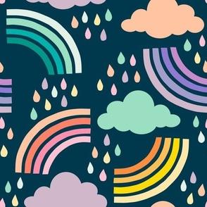 Rainbow Weather - Navy