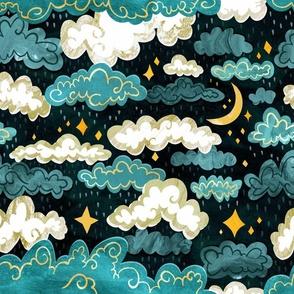 Midnight Rainclouds - Golden Lining