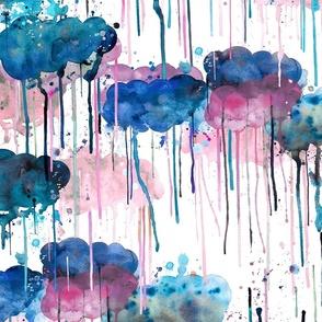 Watercolor storm Weather fantasy