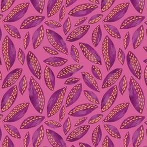 Purple Leaves on Pink
