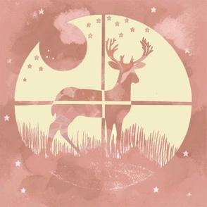 Deer Hunter Target Pink and Khaki Green Camo, 8 inch block