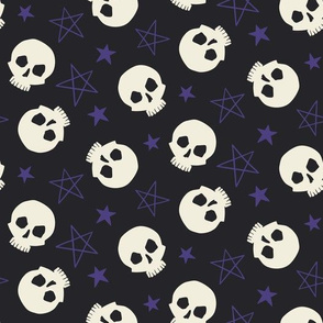 Stars & Skulls, dark, Large