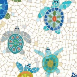turtle race mosaic