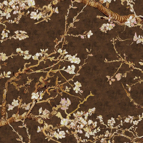 Almond Blossoms ~ Van Gogh ~ Brushed Brown