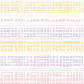 Pastel rainbow checks and stripes by Jac Slade